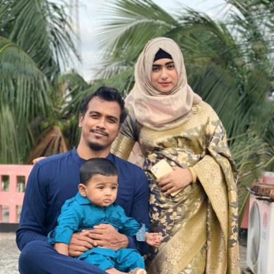His brother's name is Rubel Hossain. He is a member of Bangladesh national cricket team.  He is a pace bowler. He and his wife and son posted pictures on the occasion of Eid