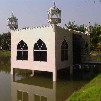Mosque on the pond ,,,  Location: Satkhira  Let's see who has seen this mosque, and has had the opportunity to perform prayers.